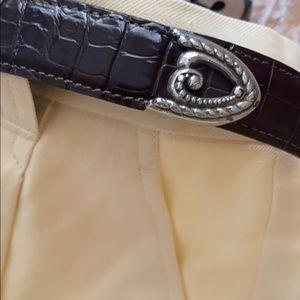 TALBOTS Genuine Leather Triple ❤️ Belt